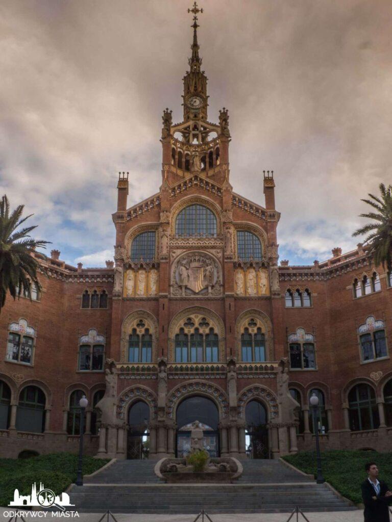 szpital św pawła barcelona fasada budynku głównego
