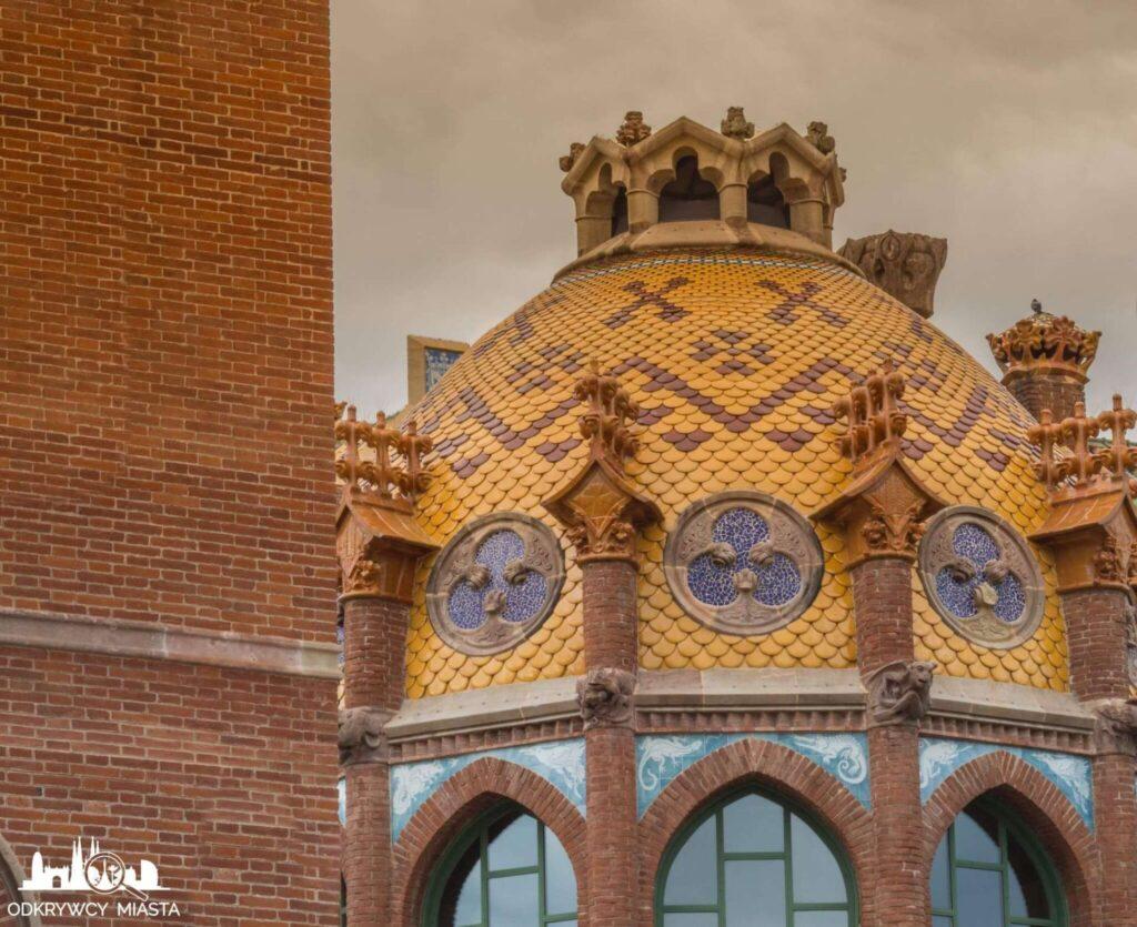 szpital św pawła barcelona zdobiona kopuła
