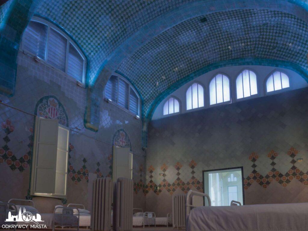 szpital św pawła barcelona wnętrze sali chorych