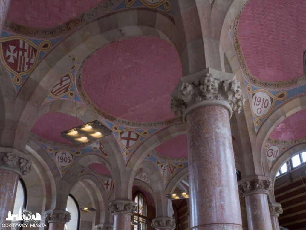 szpital św pawła barcelona wnętrze głównego budynku