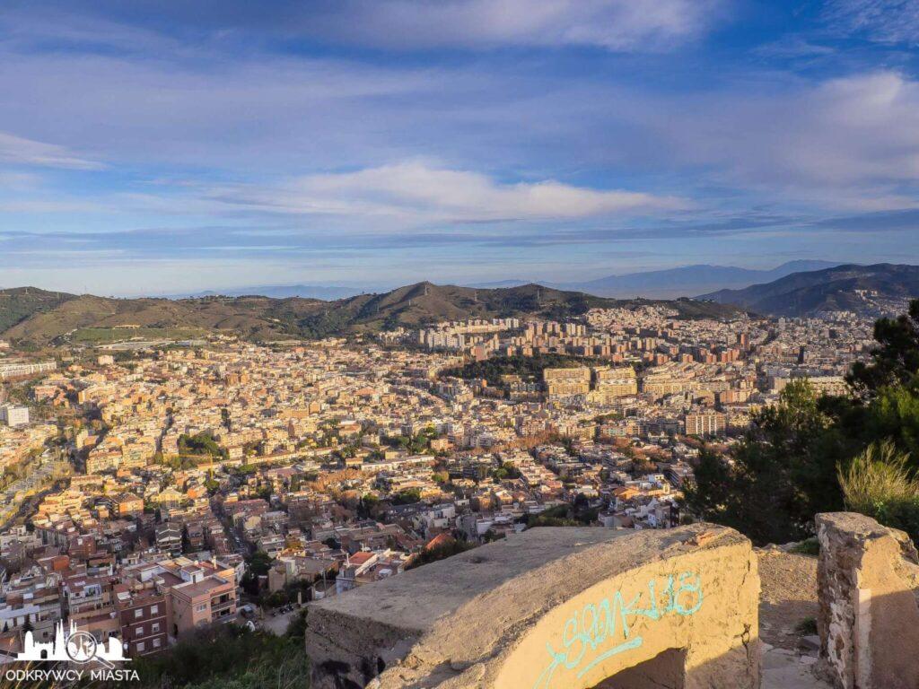 Bunkry del Carmel widok na barcelonę i sabta colomę