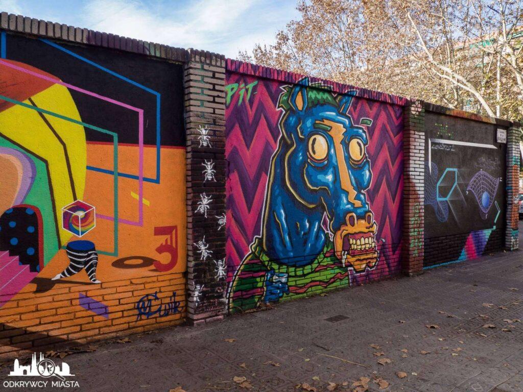 Street Art Barcelona park grafik koń