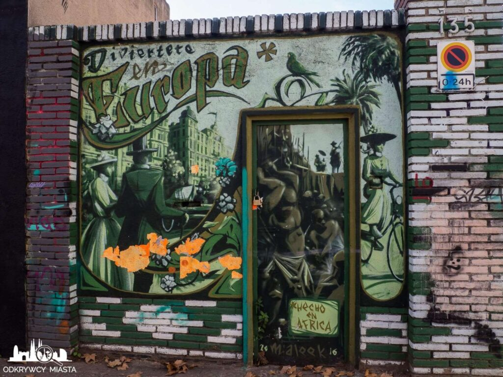 Street Art Barcelona park grafik przedstawienie zdjęcia starej barcelony