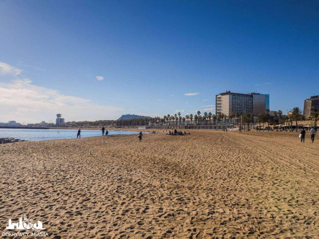 plaża barceloneta piasek i rekreacja
