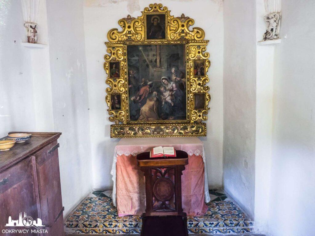 klasztor Pedralbes miejsce modlitwy przy świętym obrazie