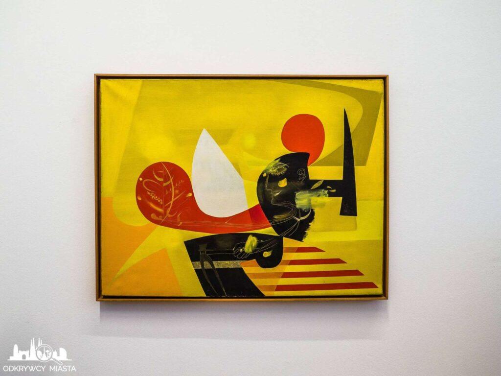 Antonio tapies obraz współczesny żółty