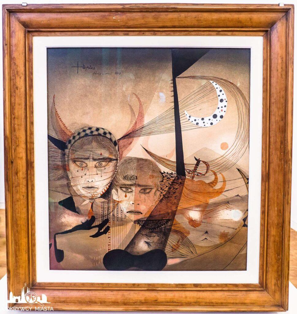 Antonio tapies obraz z twarzami