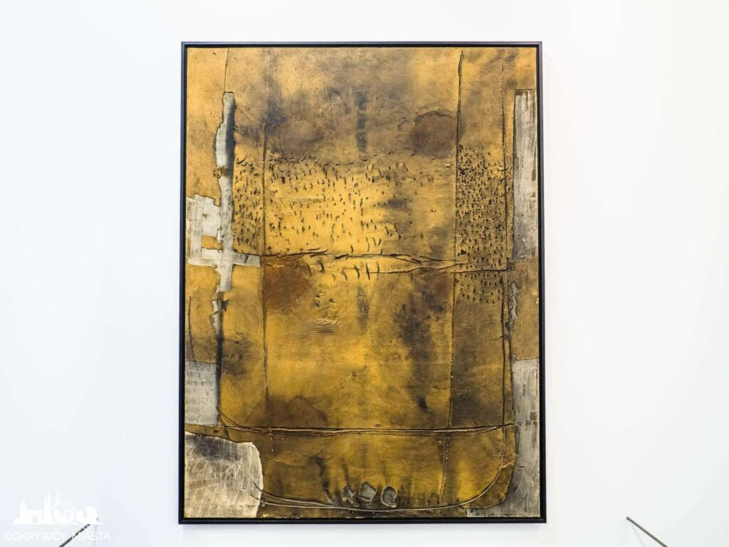 Antonio tapies obraz na skórze