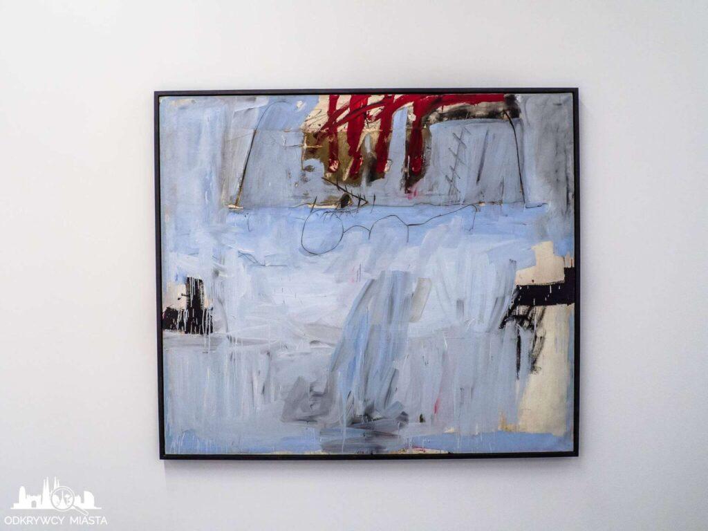 Antonio tapies obraz współczesny biały