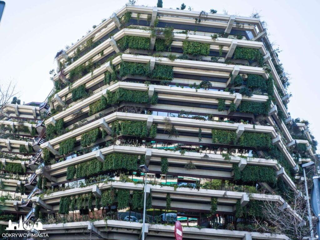 Pionowa ogrody fundacja planeta wysoki budynek pokryty roślinami