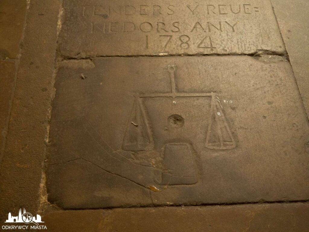 Santa Maria del mar płyta nagrobna