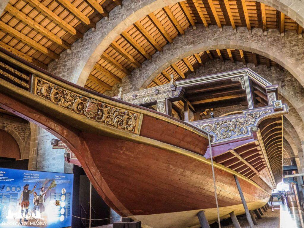 muzeum morskie galera od strony burty