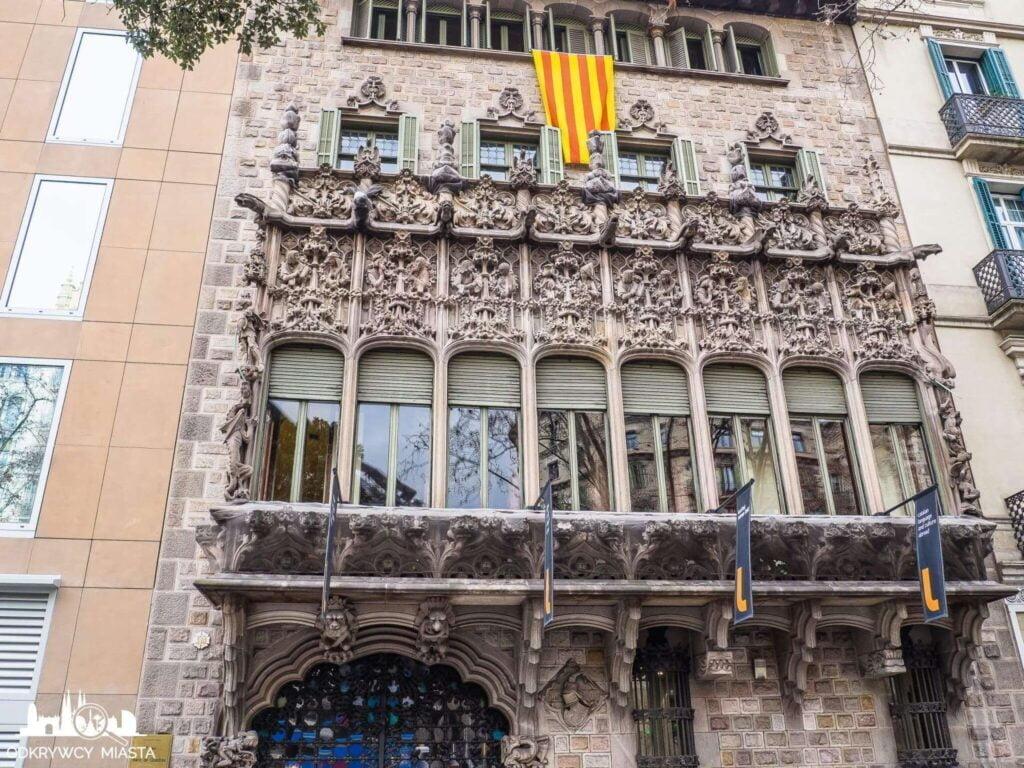 Pałac Baron de Quadras fasada główna budynku