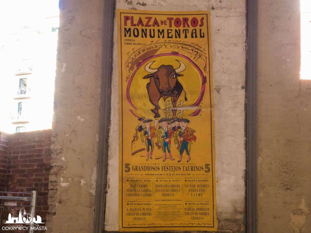 Monumental arena byków plakat reklamowy corridy