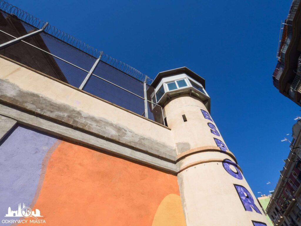 La Modelo więzienie w Barcelonie wieża strażnicza