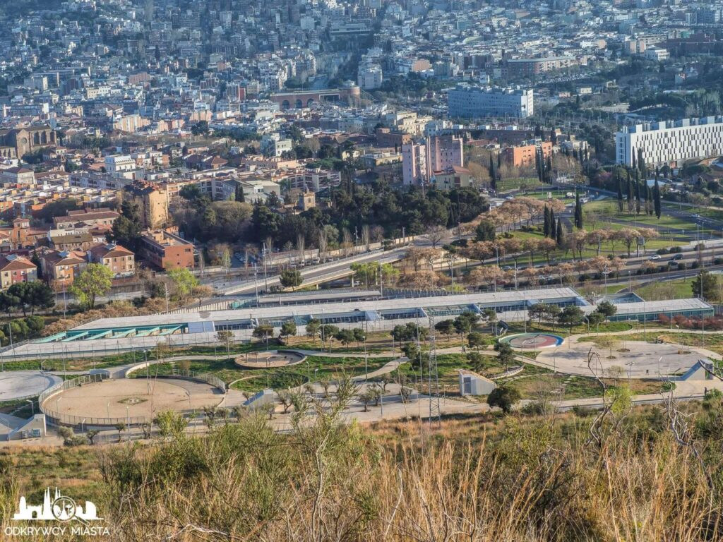 Punkt widokowy w Barcelonie Horta widok na zajezdnię