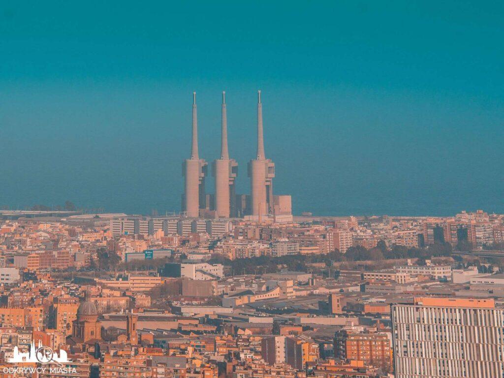 Punkt widokowy w Barcelonie Horta elektrociepłownia