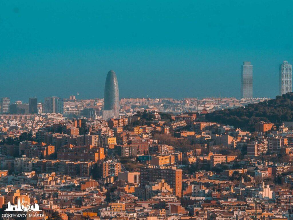 Punkt widokowy w Barcelonie Horta biurowaiec torre agbar