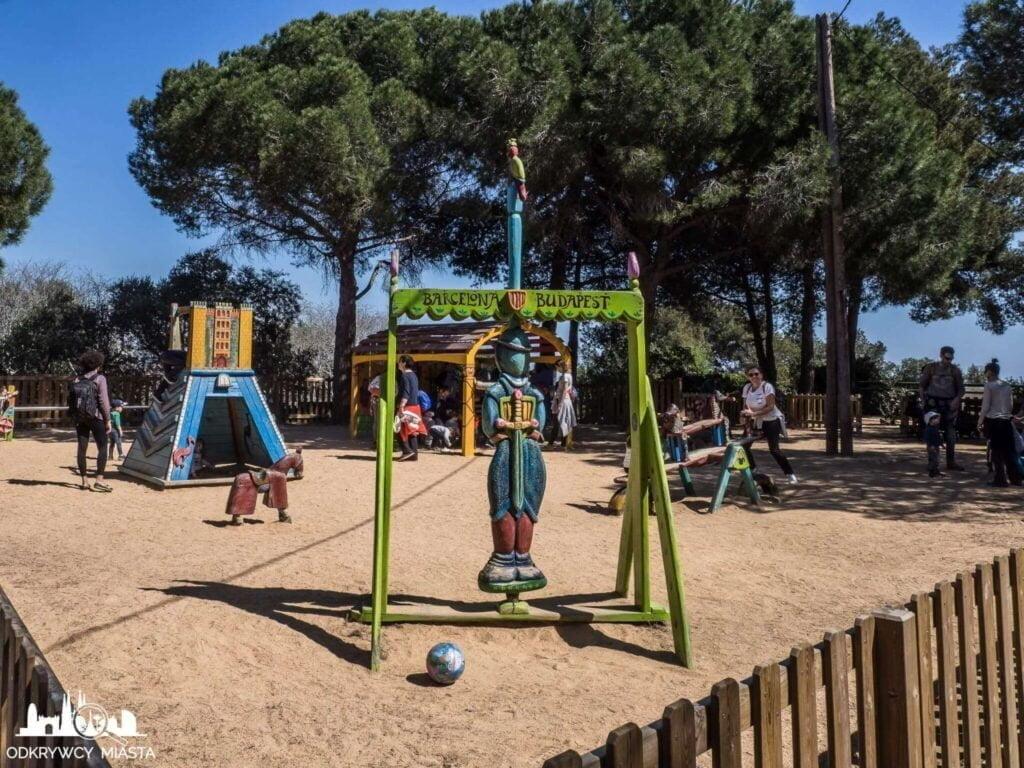 Park z pociągami l'oreneta park rozrywki Barcelona Budapeszt