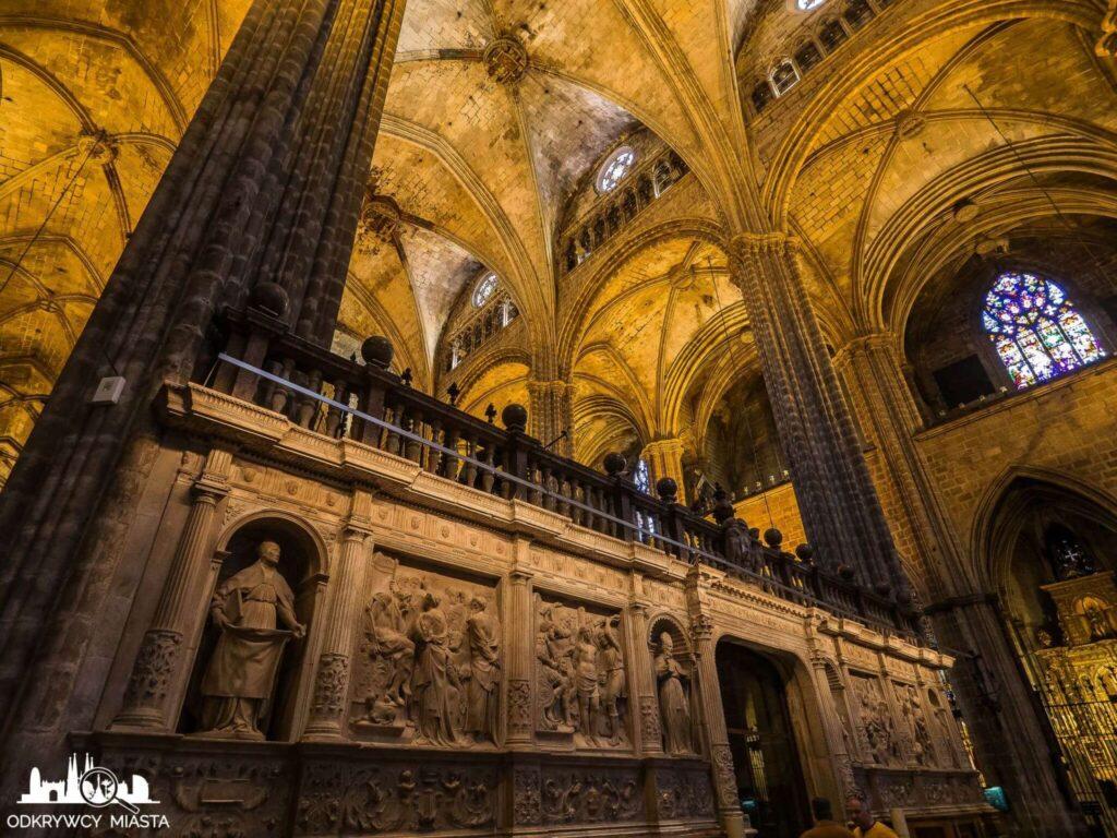 Katedra św. Eulali zdobienie chóru kaplicowego