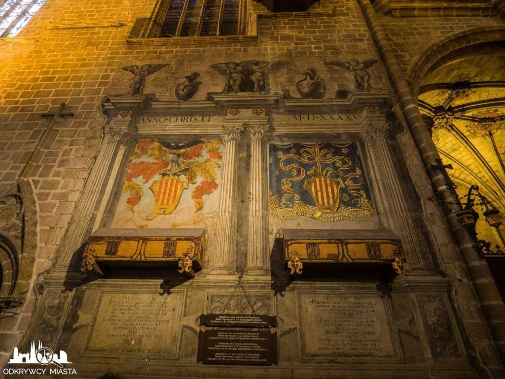 Katedra św. Eulali groby zasłużonych dla kościoła