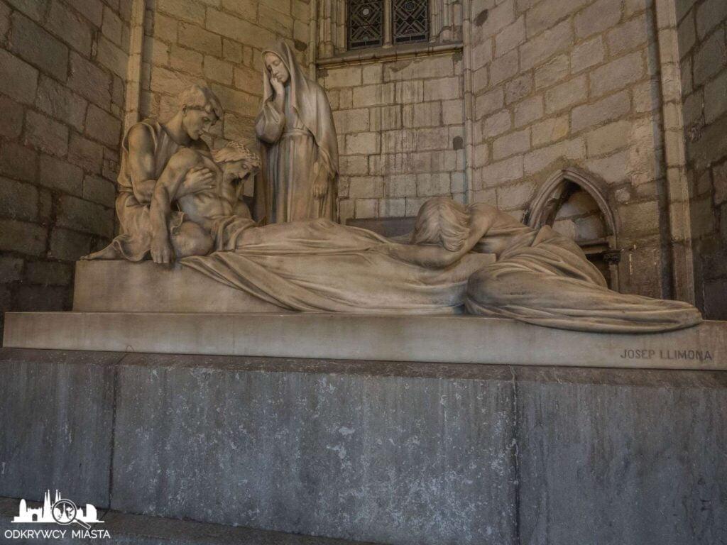 Katedra św. Eulali grobowiec przedstawiający martwego jezusa