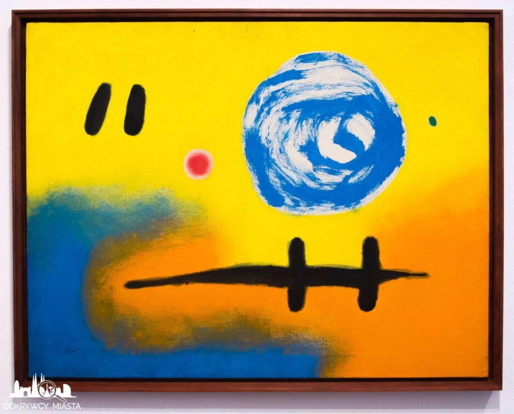 Fundacja Joan Miro żółto niebieski obraz