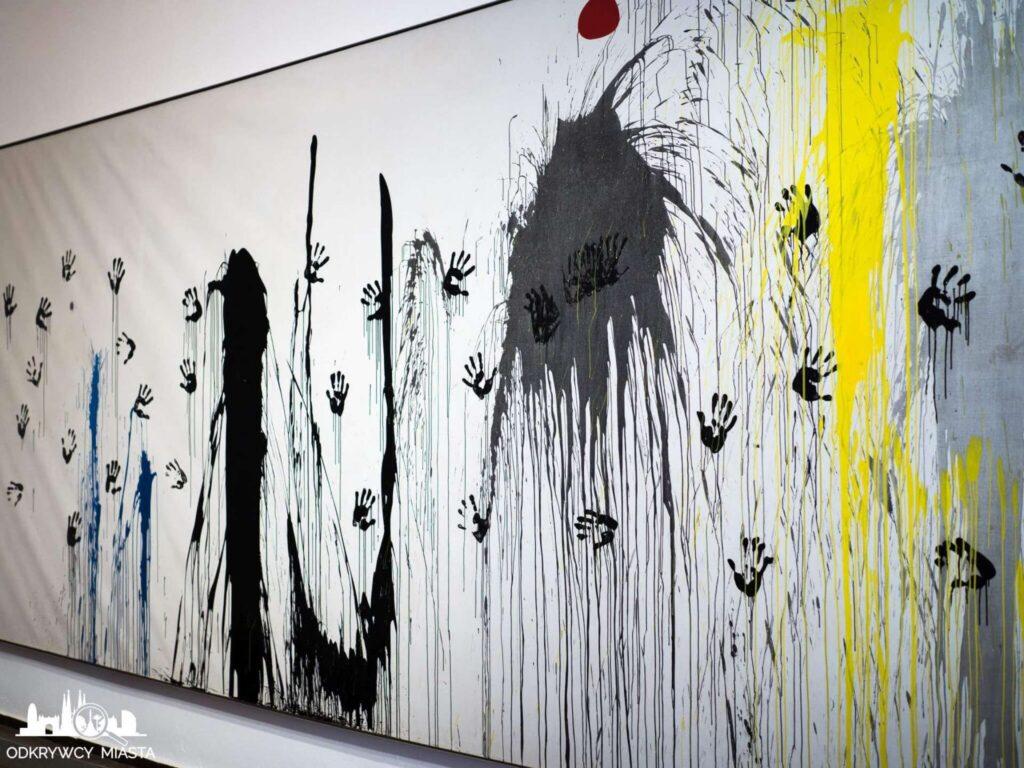 Fundacja Joan Miro ręca i ślady farby