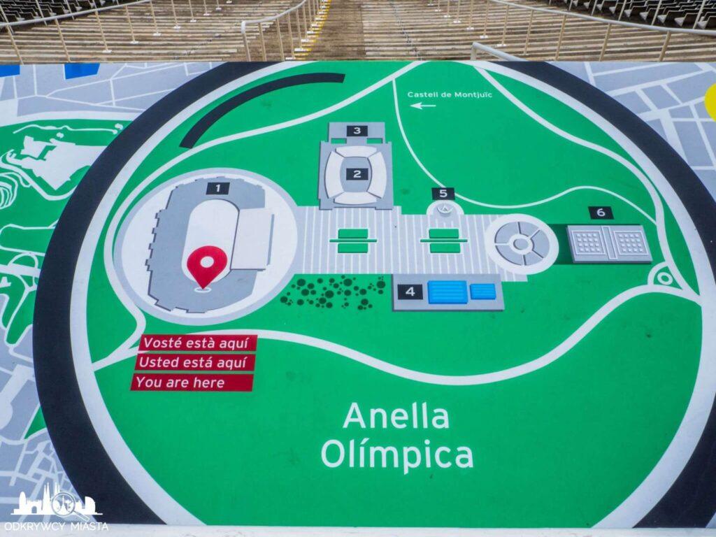 Park olimpijski mapa