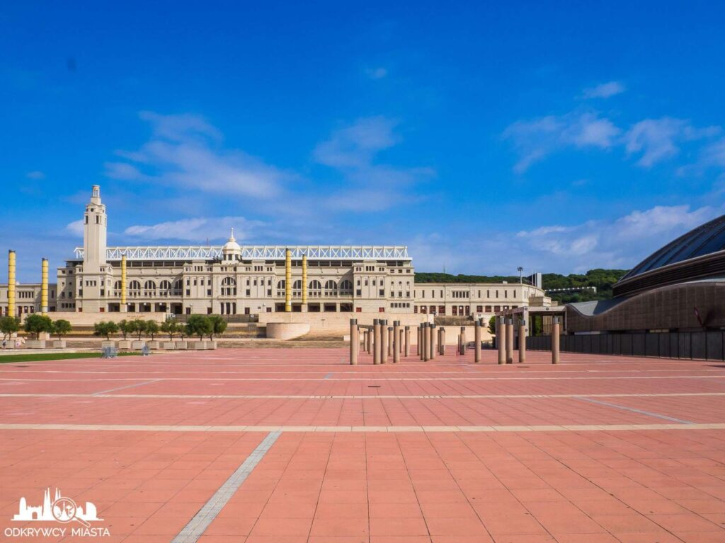 Park olimpijski widok na stadion olimpijski