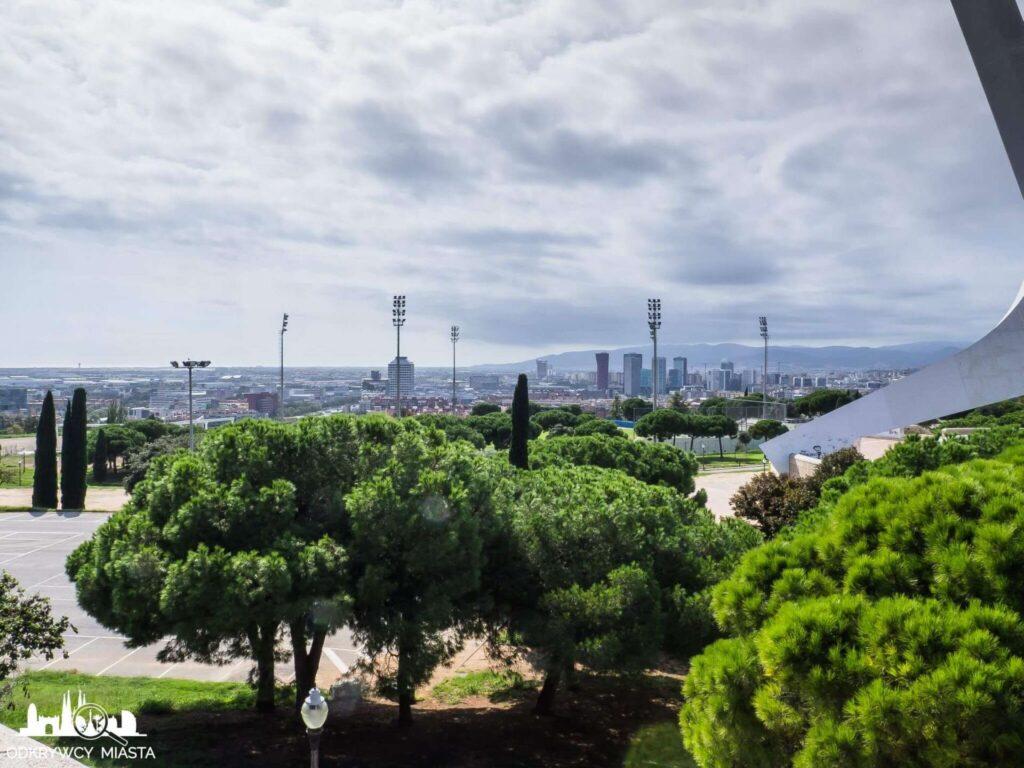 Park olimpijski widok na barcelonę