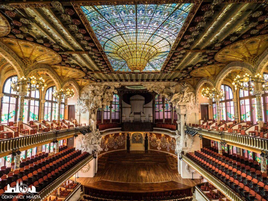 Barcelona miasto warte zdjęcia palau de la musica catalana