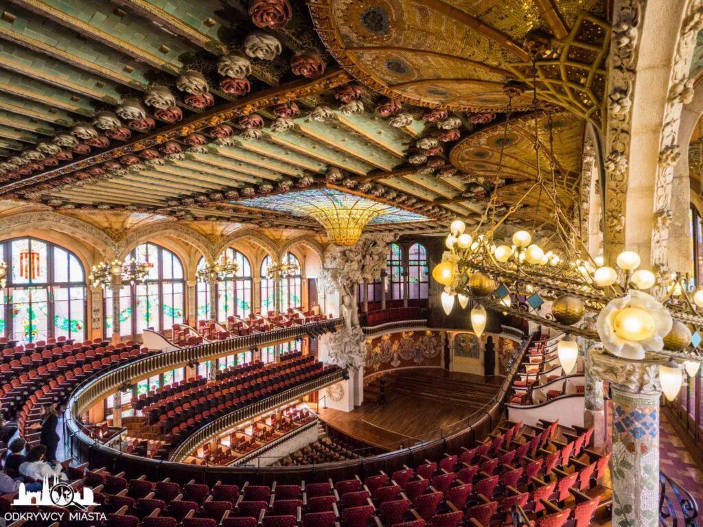 pałac muzyki katalońskiej sala główna