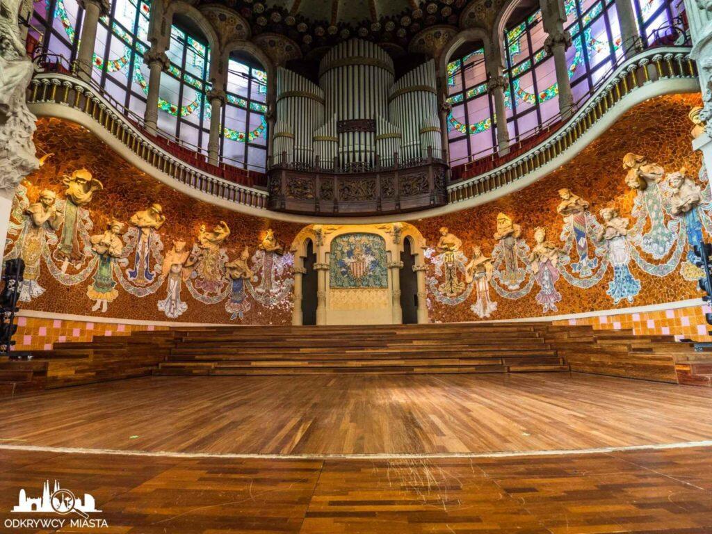 pałac muzyki katalońskiej scena