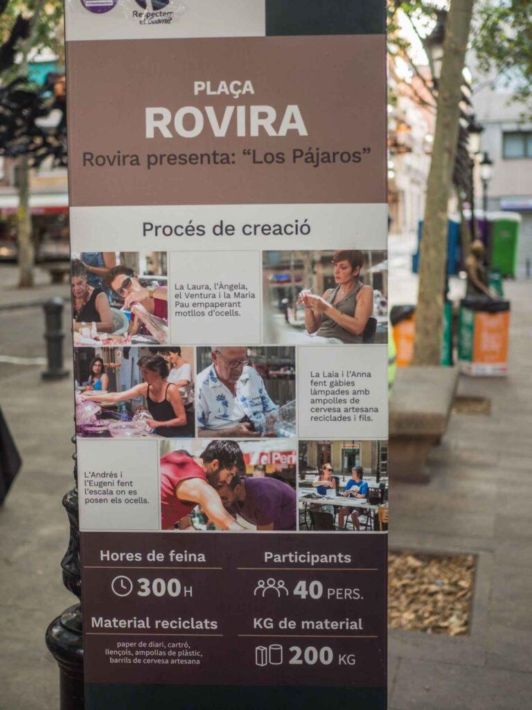 Placa Rovira - pracowało 40 osób przez 300 godzin