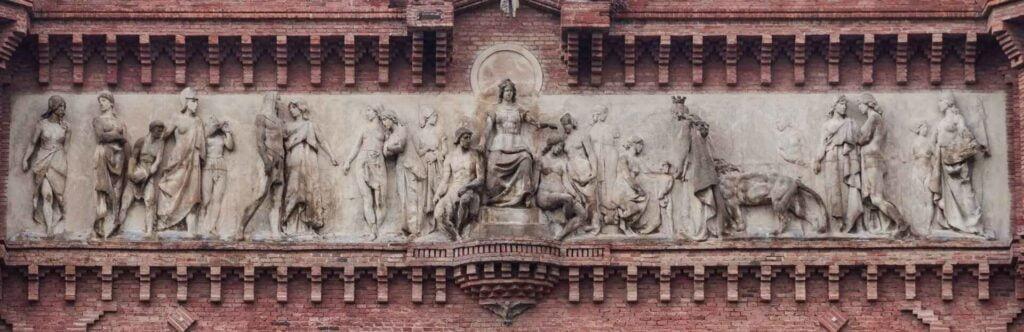 Arc de triumf powitanie gości płaskorzeźba