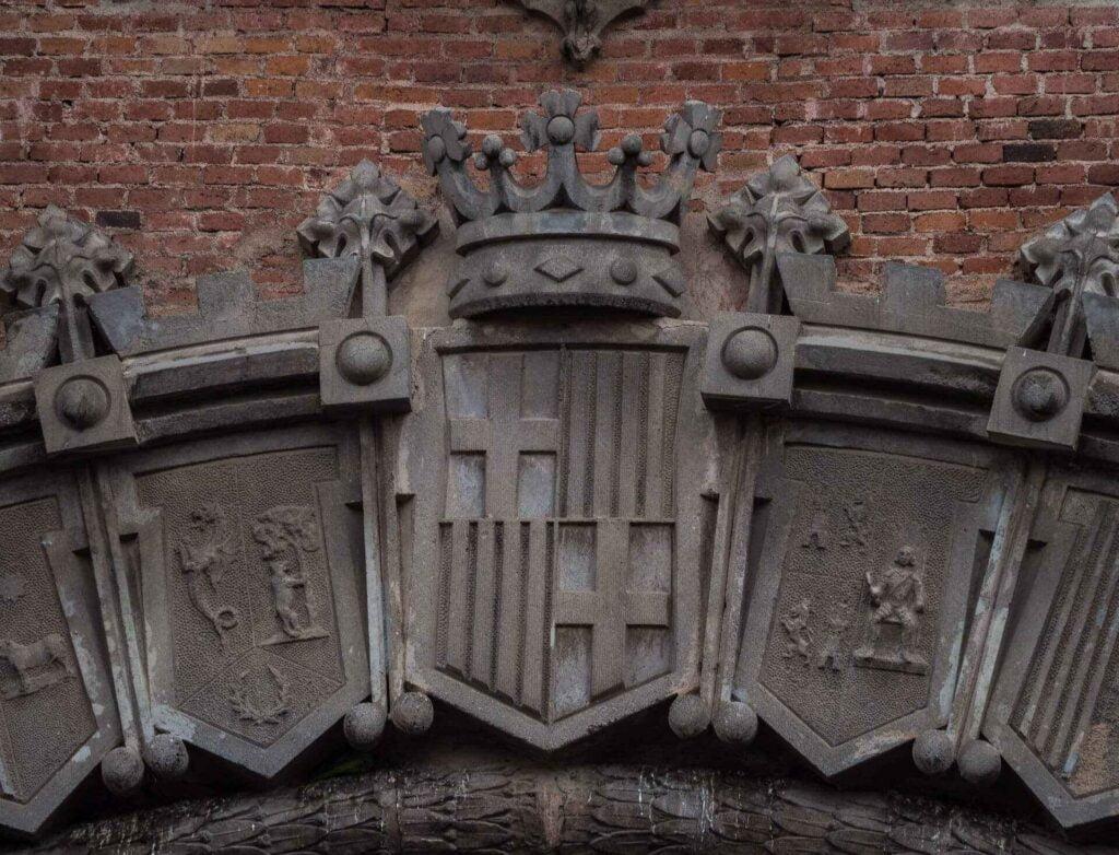 Arc de triumf tarcza herbowa barcelony