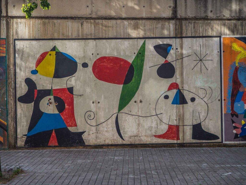 Barcelońska Galeria sztuki joan miro mural