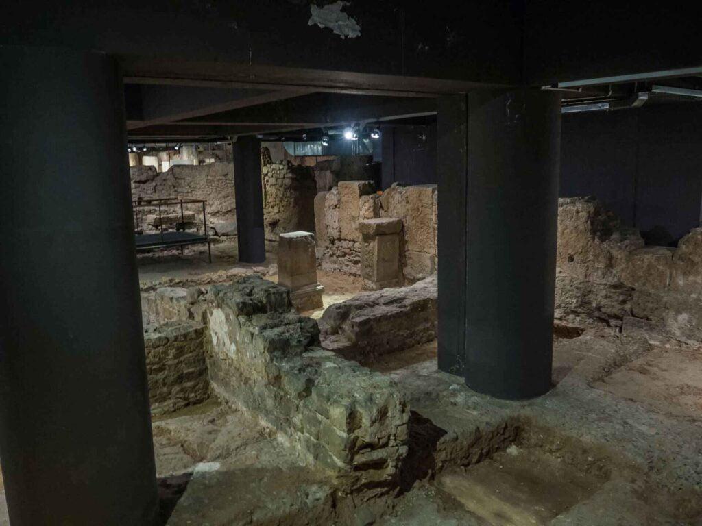 muzeum historii miasta Barcelona ruiny