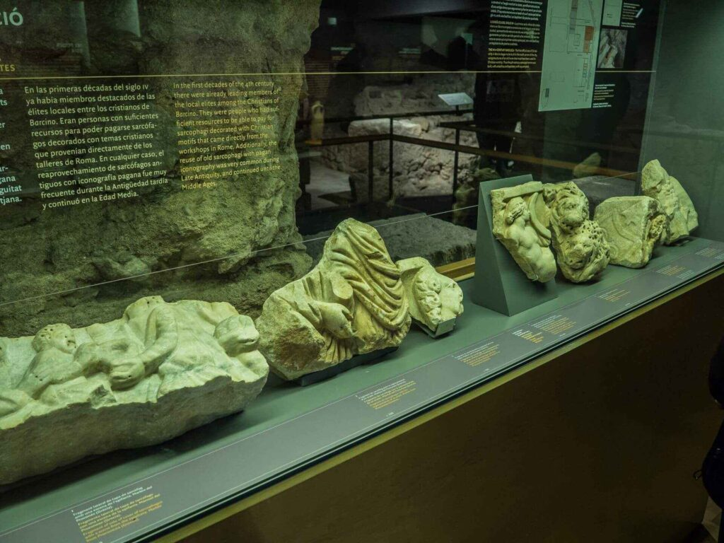 muzeum historii miasta Barcelona odnalezione elementy