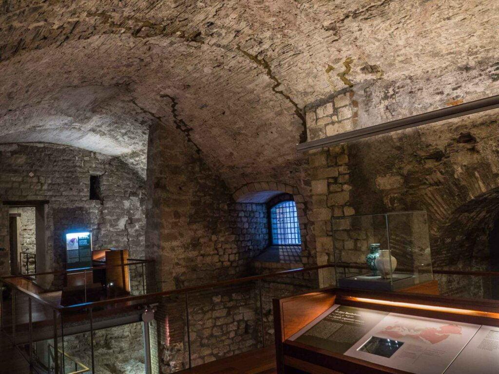 muzeum historii miasta Barcelona wnętrze muzeum