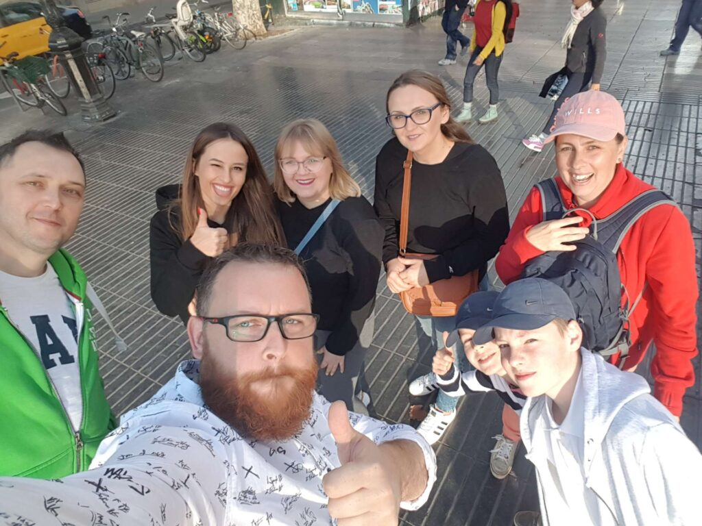 Grupa podczas zwiedzania BCN