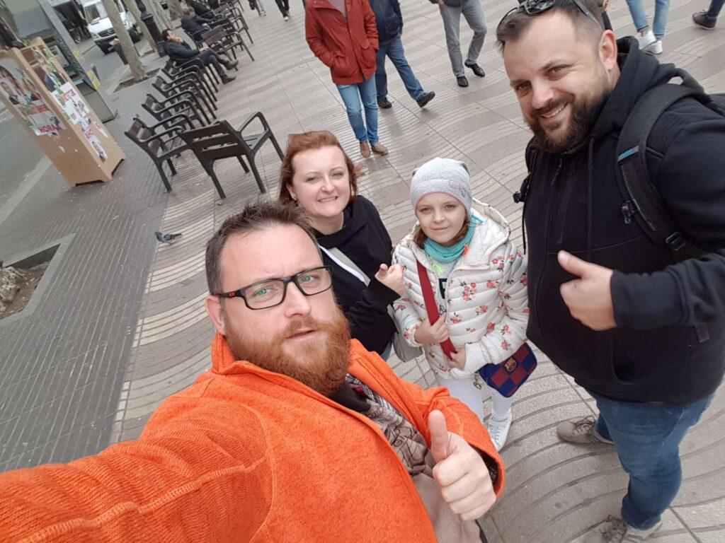 Odkrywcy miasta rodzina z dzieckiem