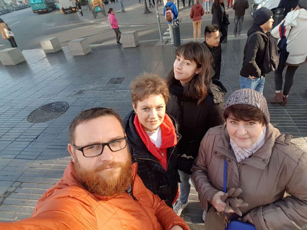 Zwiedzanie Barcelony przez 3 panie