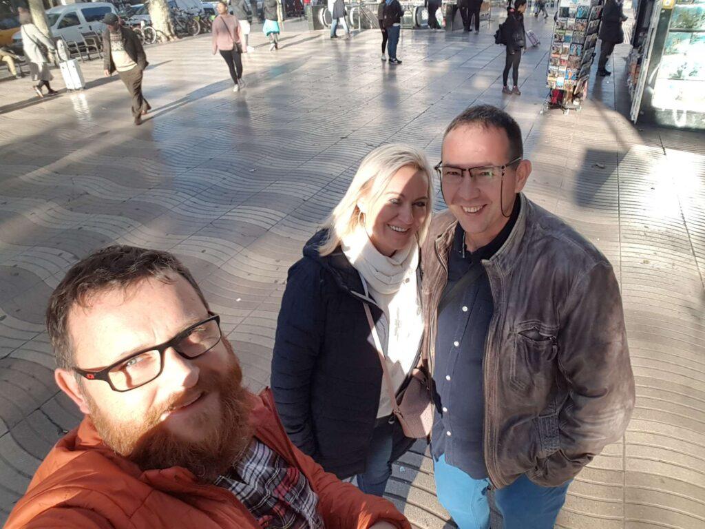 Zwiedzanie Barcelony przez parę
